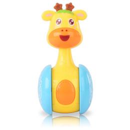 $enCountryForm.capitalKeyWord UK - Funny Tumbler Toys For New Baby Cute Cartoon Intelligence Plastics Giraffe Shaped Animal Sliding Rattle Shaking Bell Educational Toys