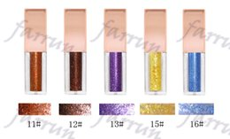 glitter wholesaler NZ - no logo 10 color choice Eye Shadow Gold Shiny Metallic Liquid Glitter Eyeshadow Wholesale Distributor liquid eye shadow pigment Glitter