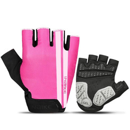 Glove cyclinG Gel online shopping - Half Finger Anti Slip Cycling Gloves Gel Pad Breathable Non Slip Motorcycle Road Bike Glove Wear Resisting Men Women Sports lt jj