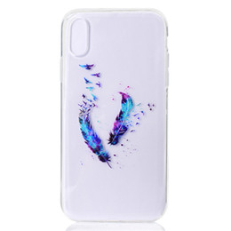 Designs For Iphone Cases Australia - Transparent Soft TPU Cover For iPhone Xr Case Colour decoration Tower bike Butterfly Girl Design Mobile Phone Cases For iPhone XS Max
