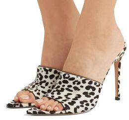 $enCountryForm.capitalKeyWord Canada - Pointy Open Toe White Leopard High Heel Mules Sexy Sandals Women Dress Heels Ladies Summer Transparent Shoes PVC Stilettos 2018