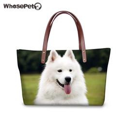 Cute Animal Tote Bags Canada - WHOSEPET Women Handbag Cute Dog Pattern Shoulder Bag 3D Animal Printing Top-handle Bags Teenager Girls Daily Tote Bag Female New