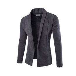Wholesale cardigan mens resale online – Concise V Neck Sweater Coat Cardigan Sweater Men Male Solid Color Slim Mens Cardigan Sweater Coat Man Cardigan for Men Free Drop Ship