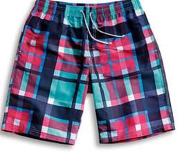 Ingrosso 2017 pantaloni alla moda da uomo in tartan, pantaloncini casual larghi a rapida asciugatura, pantaloni personalizzati XL