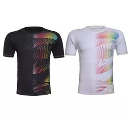 badminton clothing UK - Free shipping Men women's badminton wear t-shirt, badminton tennis sports shirts, men tennis T-Shirts,sports clothes fast dry breathable
