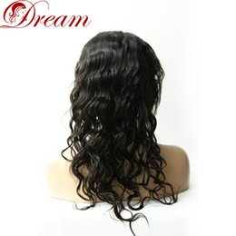 $enCountryForm.capitalKeyWord Australia - Dream 8A Full Lace Wigs for Woman Virgin Human Human Hair Wavy 100% Human Hair Density 130% Best Quality 8 Inch to 24 Inch Nature Color