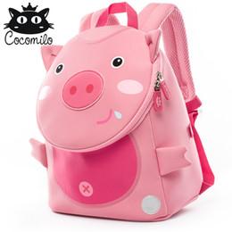 $enCountryForm.capitalKeyWord Canada - Cocomilo Cute Pig Panda Zoo Backpack Kids Small Bag For Boys Girls Cartoon Anti Lost Backpacks Children School Bags 2-6 Years