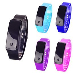 Chinese  LED Silicone Smart Band Unisex Waterproof Smart Band Digital watch Sports Smart Wristbands For Men Women manufacturers