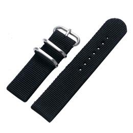Großhandel Leinwand schwarz blau grün 20 / 22mm mode uhrenarmband armbanduhren ersatzbänder für sportuhren