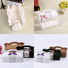 Christmas gift wrap rolls online shopping - Moon Cake Boxes Fold Hand Held Cup Roll Baking Packing Ice Skin Gift Wrap Party Supplies Kraft Paper Hot Sale ak V