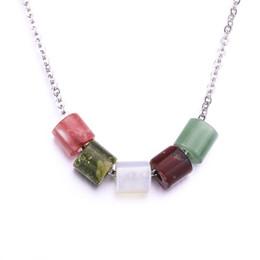 $enCountryForm.capitalKeyWord Australia - Natural Stone Bead Necklaces Pendants Pink Quartz White Crystal Opal Neklace