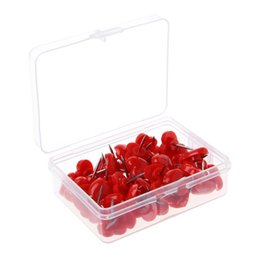 $enCountryForm.capitalKeyWord UK - 50 Pcs Set Fashion Red Color Heart Shaped Plastic Push Pins Thumbtacks Good For Office School