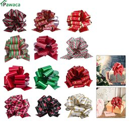 $enCountryForm.capitalKeyWord Australia - 12pcs lot 12cm Gift Ribbon Birthday wedding home Festive Party Decoration Packing Pull Bow Ribbon Present Package Wrapping