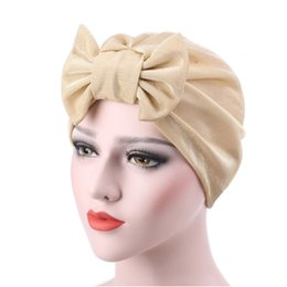 $enCountryForm.capitalKeyWord Australia - Women Winter Caps Bowknot Muslim Ruffle Cancer Chemo Hat Beanie Scarf Turban Head Wrap Cap Gorro Feminino