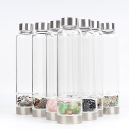 $enCountryForm.capitalKeyWord Australia - New Product Creative Natural Quartz Crystal Glass Water Bottle Gravel Irregular Stone Cup Point Wand Healing Hydrotherapy Crushed stone Cup