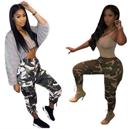 camouflage pants fashion NZ - Womens Fashion Camouflage Pants For Female 2018 New Plus Size Print Street Casual Long Trousers Cargo Pants Size S-5XL