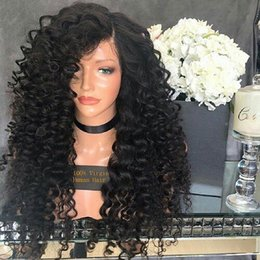 Discount best lace wigs deep wave - Cheap 100% unprocessed virgin remy human hair long natural color deep wave full lace wig best for women