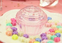 Clear CupCake Container box online shopping - Clear Mini Cake Stand Cupcake Favor Candy Box Wedding Birthday Container Plastic Party Treat Food Boxes Favours Gift Wrapping