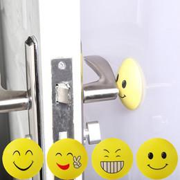 Chinese  New Emoji Anti-shock Pad Door Handle Knob Door Lock Anti-shock Pad Emoji Crash Pad Wall Protector Bumper Stickers Corner Protectors WX9-255 manufacturers