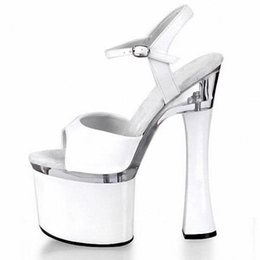 Objective Silver 18cm Sexy Super High Heel 7 Inch Platforms Pole Dance Sandals Star Model Shoes Sexy Wedding Dance Shoes Office & School Supplies