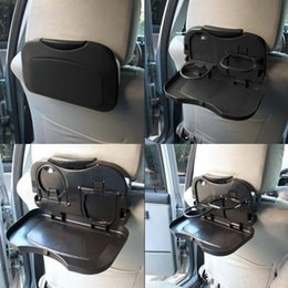 Discount car back seat cup holder - New 1pcs Folding Auto Car Back Seat Table Drink Cup Tray Holder Stand Desk Hot Selling Drop Shipping