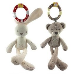 Best Baby Rattle Australia - Best gift Hanging Toys Rattles Rabbit Bear Plush Toy For Baby Car Bed Seat Baby Toys