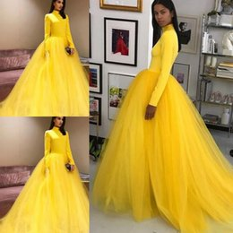 dbf67c57c46 Long bright orange prom dresses online shopping - Bright Yellow Long  Sleeves Prom Dresses Saudi Arabia