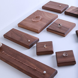 $enCountryForm.capitalKeyWord NZ - Solid Walnut Wood Block Stand for Jewelry Display Exhibiting Jewellery Necklace Earrings Rings in Shop Counter Showcase Shelf Trade Show