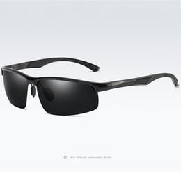 Magnesium Coating Australia - Aluminum Magnesium Men's Sunglasses Polarized Coating Mirror Sun Glasses oculos Male Eyewear Accessories For Men