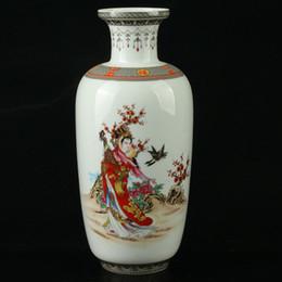 $enCountryForm.capitalKeyWord NZ - China Pastel Porcelain Hand Painted Beauty Vase Mark As The Qianlong>>>Free shipping