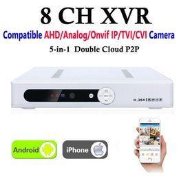 dvr analog ip UK - New CCTV 8Channel XVR Video Recorder All HD 1080P 8CH Super DVR Recording 5-in-1 support AHD Analog Onvif IP TVI CVI Camera