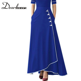 Dear lovers High Waist Long Skirts for Women 2018 Autumn Winter Plus Size A  Line Maxi Office Ladies Skirt with Pockets LC65079 C18110801 e5203f04a244