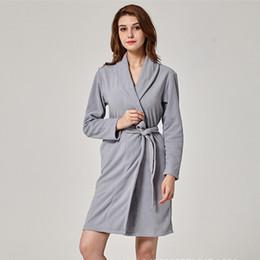 0adaf0dfe3 Sexy Warm Sleepwear NZ - Women Kimono Bathrobe Gown Fleece Warm Winter Robe  Mini Sexy Nightgown