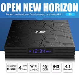 Top 3d movies online shopping - T9 Android TV Box GB GB RK3328 Quad Core GHz GHz Dual Band Wifi Bluetooth Media Player K D Movie Set Top Box Smart Boxes
