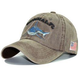New Baseball Cap Shark Washed Cotton Cap Ms. Cross-Country For Hat Men  Summer Sun Hat 0fe5d2bf791