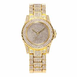 Chinese  Luxury Design Full of Shiny Rhinestone Quartz Movement Wrist Watches Steel Watchband Elegant Lady Female Watches Valentine Gifts manufacturers
