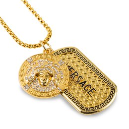 Discount real hip hop gold chains 2018 real hip hop gold chains whole sale2016 brand men hip hop necklace choker necklace bling bling chunky chains 18k real gold plated dog tag fast delivery real hip hop gold chains for aloadofball Images