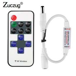 $enCountryForm.capitalKeyWord Australia - 11 Keys LED Strip Controller Mini Dimmer RF Remote DC 5-24V Controller For LED 5050 2835 Strip Single Color (C10)