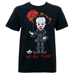 $enCountryForm.capitalKeyWord Canada - It Movie 2017 We All Float T-Shirt S-3XL New New Short Sleeve Round Collar Mens T Shirts Fashion 2018 New Fashion Men's T-Shirt