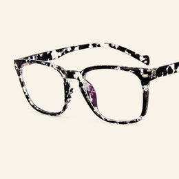 13bcbf8f2004 Korean version of retro square flat mirror fashion rnail glasses frames  male tide students can be equipped with myopic frame