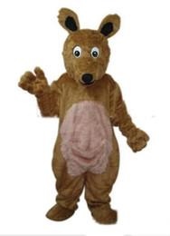 Discount free hair mascot - Hot sale long hair Kangaroo adult size mascot costume Size : S M L XL XXL