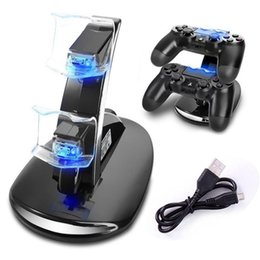 $enCountryForm.capitalKeyWord NZ - LED Dual Charger Dock Mount USB Charging Stand For PlayStation 4 PS4 Xbox One Gaming Wireless Controller With Retail Box Free Shipping