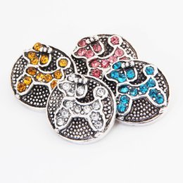 snap animals NZ - 18mm 10pcs Fashion Crystal Animal Cartoon Snap Buttons for DIY Snap Bracelet Jewelry Pendants Sewing Tools Decorative Button