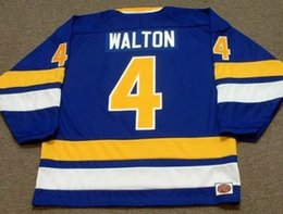 Fighting Canada - MIKE WALTON Minnesota Fighting Saints 1975 WHA Turn Back Hockey Jersey All Stitched Top-quality Any Name Any Number