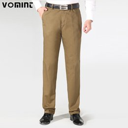 $enCountryForm.capitalKeyWord Canada - VOMINT New Autumn Mens Casual Business Pants Heavyweight Cotton Trousers Regular Straight Pant Size 40 Father Worksuit V7A1P002