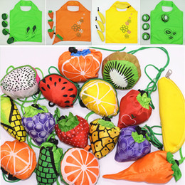 fruits foldable bag Australia - ECO Foldable Fruit Shopping Bags Straberry Pineapple Vegetable Fruits Rusuable Convenience Folding Drawstring Tote Handbag Stoarge Bags New