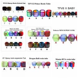 $enCountryForm.capitalKeyWord Australia - Replacement Resin Bulb Tube for TFV8 x baby TFV12 Prince Tobeco MINI SUPER TANK Dragon Ball Manta CP RTA MELO 3 Mini The Troll Drip Tip DHL