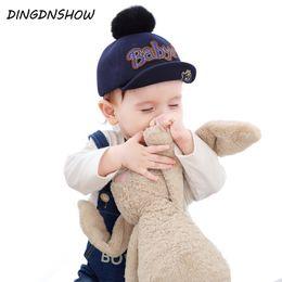 3f0ea5de143  DINGDNSHOW  2018 New Arrival Baseball Cap Baby Warm Winter Cap Cotton  Letters Hip Hop Kids Snapbacks Hat for Boys and Girls