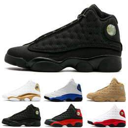 shoes for cats 2019 - 13 13s basketball shoes black cat Playoffs Bred DMP Chicago He got game for mens trainers Sports sneakers size 8-13 on s