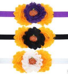 Girls head flowers online shopping - Halloween children s hair band European and American fashion decoration girl head flower pumpkin petal hair band